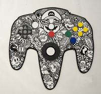 N64 Colouring Pad Created by Bruce Parker