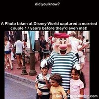 How cool! A photo taken at Disney World captured a married couple 17 years before they'd even met!