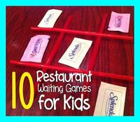 Restaurant Waiting Games to Play with Kids