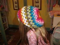 rainbow granny stripe slouch hat by thornberry