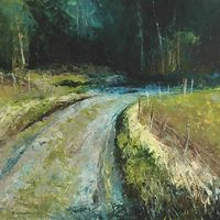 country road oil painting | erica kirkpatrick