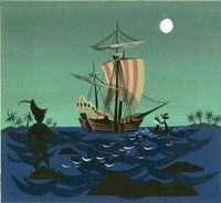 Mary Blair Peter Pan Animation Concept Painting