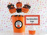 Halloween Mini Fake Cupcake Photo/Note Holder by AmyMillerDesigns, $10.75