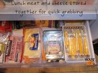 Org Containers in Fridge for Deli Meat and cheeses