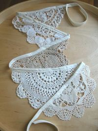 Vintage crochet doily bunting by alipink on Etsy