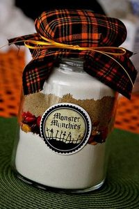 Hallowe'en cookies in a jar