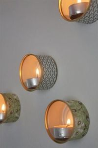 Tutorial: Recycled Tin Wall Lamps