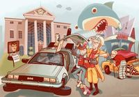 Illustration for an article on Back to the Future II's vision of the future