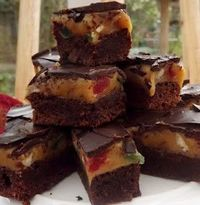 Chocolate Bars with Caramel, Cherries & Hazelnuts