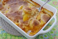 Peach Cobbler with Brandy