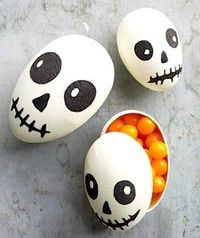 (could empty eggs and draw on them)
