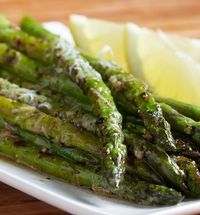 Roasted Parmesan asparagus - Click image to find more Food & Drink Pinterest pins