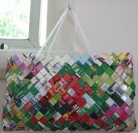 How to make a bag out of food wrappers or chip packets!