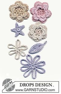 Crochet flowers free pattern (Swedish)