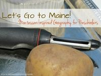 Let's Go to Maine! Montessori Inspired Geography Mini Unit for Preschoolers