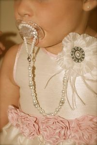Gorgeous Baby Boutique 4-in-1 Beaded Pacifier Holder - Made with Swarovski Crystals. $25.99, via Etsy. Umm yes please!!....maybe someday