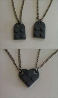 Lego Couples Necklace