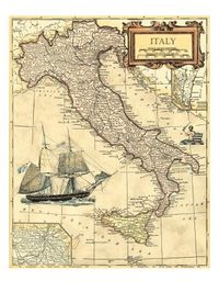 Italy Map Giclee Print