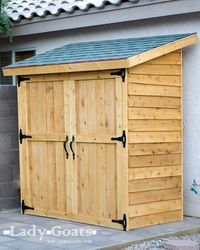 Small Cedar Fence Picket Storage Shed. free plans, $255 for lumber.