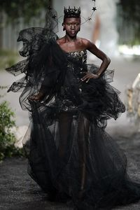 Alek Wek in Dior Haute Couture, 2005 = Halloween costume inspiration.