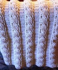 Beautiful cable baby blanket