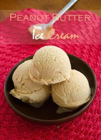 {Lowfat} Peanut Butter Ice Cream