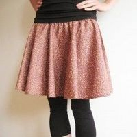 Make your own simple circle skirt.
