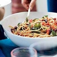 Spaghetti with Pancetta and Roasted Tomatoes