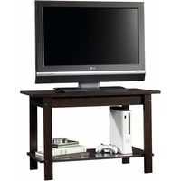 """Sauder Beginnings Cinnamon Cherry TV Stand for TVs up to 37"""". We could put baskets under!"""