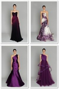 purple gowns