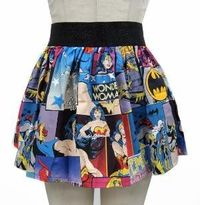 Superheroes Comic Skirt