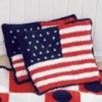American Flag Cushions Crochet Pattern | FaveCrafts.com I think I will try to make them into placemats instead of cushions