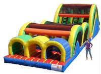 How fun would this be to rent? Inflatable obstacle course.