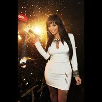 kim kardashian's bangs - New Year's Eve look