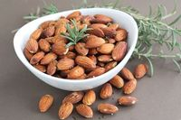 Rosemary roasted almonds. I make a similar recipe from Ida Gardner with cashews.