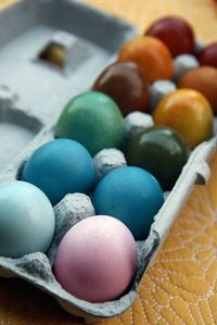 To dye eggs using natural materials, consider using these food items: