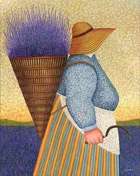 "Lowell Herrero, ""Lady with Sickle"""