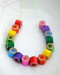 colored pencil jewelry crafts