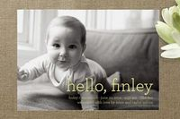 Hello Baby Birth Announcements by annie clark at minted.com