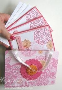Stampin UP! Doilie card set. I'd love to receive this as a gift!
