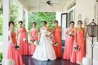 love the color of the bridesmaid dresses!