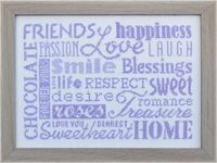 words - cross stitch pattern