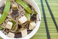Soba #Noodles with #Eggplant, Snow #Peas, and #Tofu