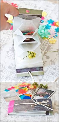 DIY Accordion Style Treasure Book Tutorial. Use glassine bags, paper bags, or envelopes etc'�'�' Easy tutorial from Bloesem Kids.