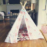 Bed sheet turned teepee
