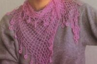 free crochet ladies silk scarf pattern