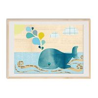 Cute Whale Collage On wood Nursery art print, nursery decor, baby nursery print, kids art, kids room decor, kids wall art, 14$