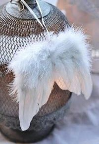 I love these little angel wings for hanging around the house