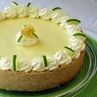 Frozen Key Lime Pie - here's a perfect cool summer dessert. I've seen many recipes for this pie but this is my own twist with a vanilla cookie crust and a little whipped cream folded into the mix to lighten up the texture even more. This doesn&#39...