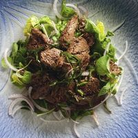 Vietnamese shaking beef salad recipe from Cuisine Magazine